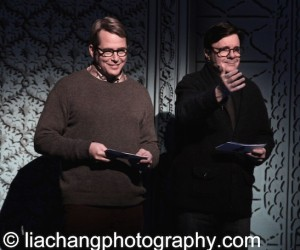 It's Only A Play cast members Matthew Broderick and Nathan Lane  at the BC/EFA's Gypsy of the Year at The New Amsterdam Theatre in New York on December 9, 2014. Photo by Lia Chang