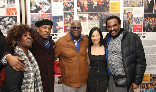 Phyllis Yvonne Stickey, Ronald Wyche, Voza Rivers, Lia Chang and Chuck Jackson. Photo by GK