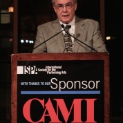 CAMI Senior Vice President, Douglas Sheldon, delivered the opening remarks at the 2015 ISPA Congress Awards Dinner at Guastavino's in New York on January 14, 2015. Photo by Lia Chang