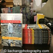 Copies of Ayad Akhtar's DISGRACED at The Drama Book Shop in New York on January 22, 2015. Photo by Lia Chang