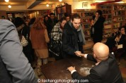Waiting for Ayad Akhtar to sign copies of DISGRACED at The Drama Book Shop in New York on January 22, 2015. Photo by Lia Chang