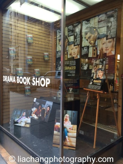 Ayad Akhtar's DISGRACED on display at The Drama Book Shop in New York on January 22, 2015. Photo by Lia Chang