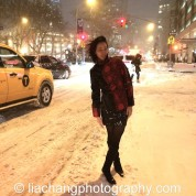 Lia Chang in the New York City Blizzard on January 26, 2015. Photo by GK