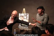 DISGRACED playwright Ayad Akhtar and Aasif Mandvi at a book talk and signing at The Drama Book Shop in New York on January 22, 2015. Photo by Lia Chang