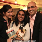 Budding playwrights with Ayad Akhtar at The Drama Book Shop in New York on January 22, 2015. Photo by Lia Chang