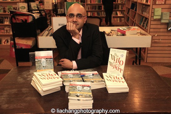 DISGRACED playwright Ayad Akhtar at The Drama Book Shop in New York on January 22, 2015. Photo by Lia Chang