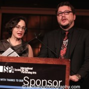 Cathie Boyd and Luiz Coradazzi co-emcee the 2015 ISPA Congress Awards Dinner at Guastavino's in New York on January 14, 2015. Photo by Lia Chang
