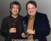 2015 ISPA Award recipients David Henry Hwang (Distinguished Artist Award) and Graham Sheffield CBE (International Citation of Merit) at the 2015 ISPA Congress Awards Dinner at Guastavino's in New York on January 14, 2015. Photo by Lia Chang