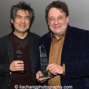 2015 ISPA Award recipients David Henry Hwang (Distinguished Artist Award) and Graham Sheffield CBE (International Citation of Merit) at the 2015 ISPA Congress Awards Dinner at Guastavino's in New York on January 14, 2015. Photo by Lia Chang