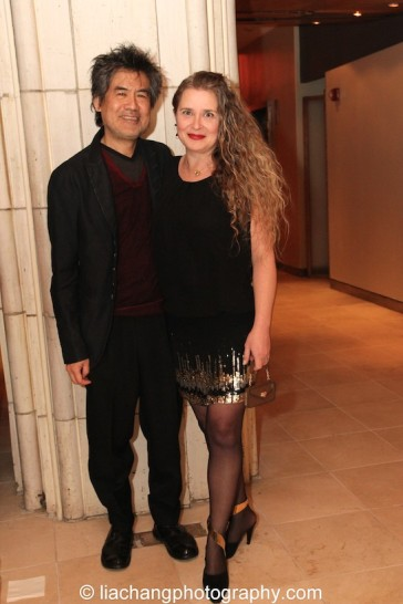 David Henry Hwang, 2015 ISPA Distinguished Artist Award recipient and his wife Kathryn Layng at the 2015 ISPA Congress Awards Dinner at Guastavino's in New York on January 14, 2015. Photo by Lia Chang