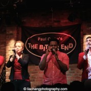 Derrick L. Hicks, Abbey Janes, J. Aaron Boykin and Tomas Cruz of Duwende in concert at The Bitter End in New York on January 12, 2015. Photo by Lia Chang