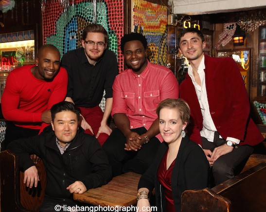Derrick L. Hicks, Edward Chung, David Lane, J. Aaron Boykin, Abbey Janes and Tomas Cruz of Duwende. Photo by Lia Chang