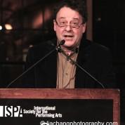 Graham Sheffield CBE receives the 2015 ISPA International Citation of Merit at the 2015 ISPA Congress Awards Dinner at Guastavino's in New York on January 14, 2015. Photo by Lia Chang