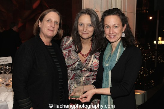 Jane Preston, Interim Co-Executive Director, NEFA, Mary Lou Aleskie, Executive Director, International Festival of Arts and Ideas, and Laura Paul, Interim Co-Executive Director, at the 2015 ISPA Congress Awards Dinner at Guastavino's in New York on January 14, 2015. Photo by Lia Chang