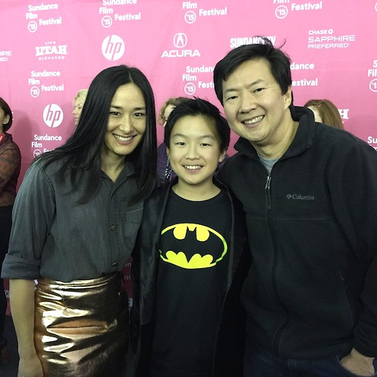 ADVANTAGEOUS stars Jennifer Ikeda, Matthew Kim and Ken Jeong at the Sundance Film Festival premiere on January 26, 2015 in Park City, Utah. Photo courtesy Michael Kim