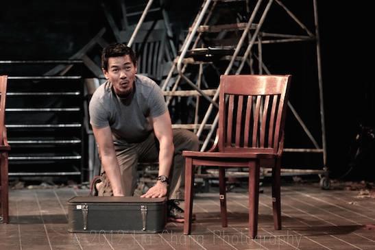 Joel de la Fuente as Gordon Hirabayashi in Jeanne Sakata's Hold These Truths. Photo by Lia Chang