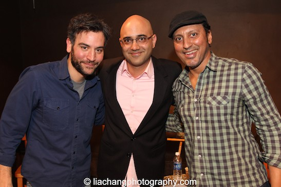 Josh Radnor, Ayad Akhtar and Aasif Mandvi at a book talk and signing at The Drama Book Shop in New York on January 22, 2015. Photo by Lia Chang