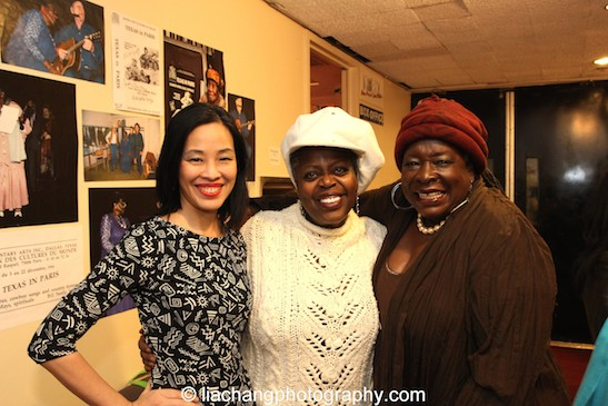 Lia Chang, TEXAS IN PARIS star Lillias White and Ebony Jo-Ann at The York Theatre Company at Saint Peter's in New York on January 29, 2015. Photo by GK