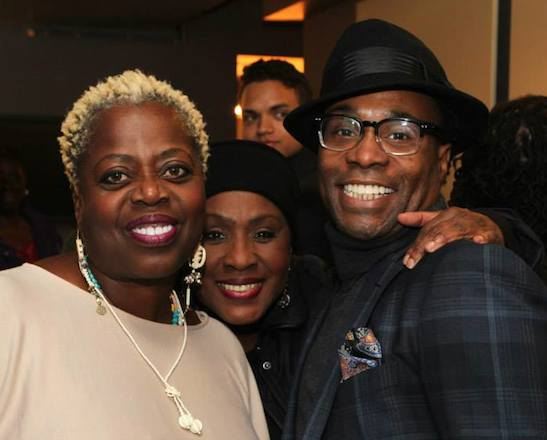 Lillias White, Elain Graham and Billy Porter after a performance of Porter's While I Yet Live at The Duke Theater on October 30, 2014. Photo by Lia Chang