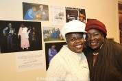 TEXAS IN PARIS star Lillias White and Ebony Jo-Ann at The York Theatre Company at Saint Peter's in New York on January 29, 2015. Photo by Lia Chang