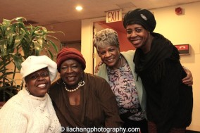 TEXAS IN PARIS star Lillias White, Ebony Jo-Ann, Tina Fabrique and Marjorie Johnson at The York Theatre Company at Saint Peter's in New York on January 29, 2015. Photo by Lia Chang
