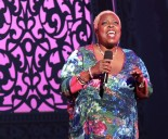 """Lillias White sings """"Home,"""" at the BC/EFA's Gypsy of the Year at The New Amsterdam Theatre in New York on December 9, 2014. Photo by Lia Chang"""