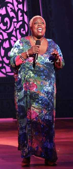 "Lillias White sings ""Home,"" at the BC/EFA's Gypsy of the Year at The New Amsterdam Theatre in New York on December 9, 2014. Photo by Lia Chang"