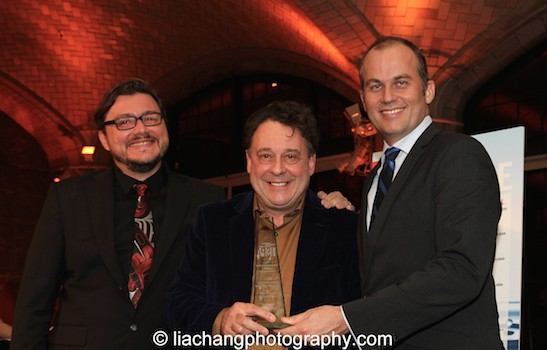 Luis Coradazzi, Eric Klug and Graham Sheffield CBE, 2015 ISPA International Citation of Merit recipient at the 2015 ISPA Congress Awards Dinner at Guastavino's in New York on January 14, 2015. Photo by Lia Chang