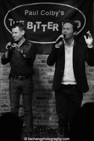 Marco Cassone and Morten Kier of m-pact in concert at The Bitter End in New York on January 12, 2015. Photo by Lia Chang
