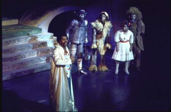 "Actors (L-R) André De Shields, Tiger Haynes, Hinton Battle, Stephanie Mills & Ted Ross in a scene fr. the Broadway musical ""The Wiz"". (c.1974) Photo by Martha Swope courtesy of THE NEW YORK PUBLIC LIBRARY DIGITAL COLLECTIONS"