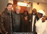 Ebony Jo-Ann is flanked by TEXAS IN PARIS star Scott Wakefield, playwright Alan Govenar, director Akin Babatundé and star Lillias White at The York Theatre Company at Saint Peter's in New York on January 29, 2015. Photo by Lia Chang