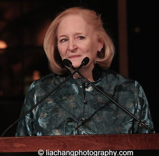 Susan Stockton receives the 2015 ISPA Patrick Hayes Award at the 2015 ISPA Congress Awards Dinner at Guastavino's in New York on January 14, 2015. Photo by Lia Chang