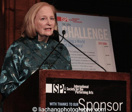 Susan Stockton receives the 2015 ISPA Patrick Hayes Award at the 2015 ISPA Congress Awards Dinner at Guastavino's in New York on January 14, 2015. Photo by Lia Chang