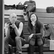 Francis Jue and Jo Mei in rehearsal for The World of Extreme Happiness at Manhattan Theatre Club in New York on January 27, 2015. Photo by Lia Chang