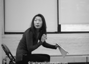 Jo Mei in rehearsal for The World of Extreme Happiness at Manhattan Theatre Club in New York on January 27, 2015. Photo by Lia Chang
