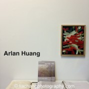 "Trestle Gallery opening reception for ""Swimming Awkward Moment,"" new works by Arlan Huang in Brooklyn on February 20, 2015. Photo by Lia Chang"