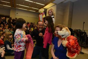 On Saturday, Feb. 28th at noon, meet Alan Muraoka at the Lunar New Year at the NY Metropolitan Museum of Art with a Sesame sing along show. He'll be joined by Sesame Street Muppeteers Pam Arciero and Jennifer Barnhart. Photo courtesy of Alan Muraoka