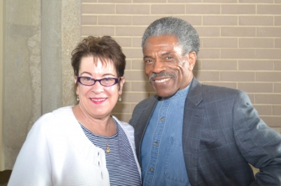 Artistic Director Molly Smith and cast member André De Shields. Photo courtesy of Arena Stage