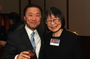 Don Liu and Lillian Ling at the Asian American Legal Defense and Education Fund's lunar new year gala at Pier Sixty at Chelsea Piers in New York on February 23, 2015. Photo by Lia Chang