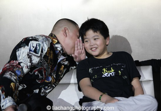 Eddie Huang and Hudson Yang during the talkback at the #FreshOffTheBoat Viewing Party at The Circle NYC on February 4, 2015. Photo by Lia Chang