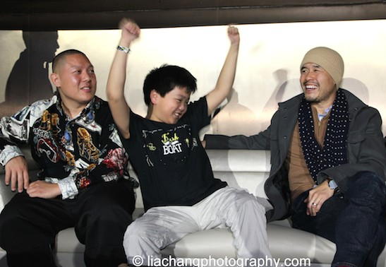 Eddie Huang, Hudson Yang,  Randall Park during the talkback at the #FreshOffTheBoat Viewing Party at The Circle NYC on February 4, 2015. Photo by Lia Chang
