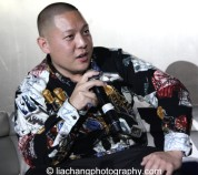 Eddie Huang during the talkback at the #FreshOffTheBoat Viewing Party at The Circle NYC on February 4, 2015. Photo by Lia Chang