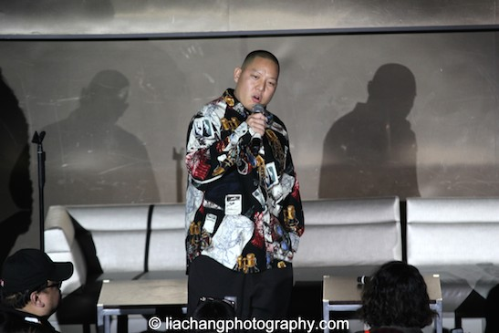 Eddie Huang at the #FreshOffTheBoat Viewing Party at The Circle NYC on February 4, 2015. Photo by Lia Chang