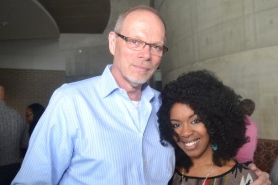 Executive Producer Edgar Dobie and cast member Jessica Frances Dukes. Photo courtesy of Arena Stage