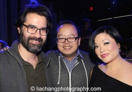 Greg Pak, Jeff Yang and Erin Quill at the #FreshOffTheBoat Viewing Party at The Circle NYC on February 4, 2015. Photo by Lia Chang