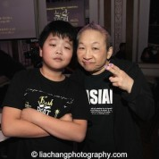 #FreshOffTheBoat star Hudson Yang and Orange is the New Black's Lori Tan Chinn at the #FreshOffTheBoat Viewing Party at The Circle NYC on February 4, 2015. Photo by Lia Chang