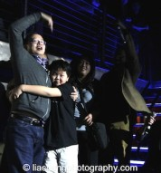 Jeff Yang and Hudson Yang at the #FreshOffTheBoat Viewing Party at The Circle NYC on February 4, 2015. Photo by Lia Chan