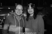 Jeff Yang and AALDEF Executive Director Margaret Fung at the #FreshOffTheBoat Viewing Party at The Circle NYC on February 4, 2015. Photo by Lia Chang