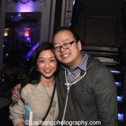 Jeff Yang and guest at the #FreshOffTheBoat Viewing Party at The Circle NYC on February 4, 2015. Photo by Lia Chang