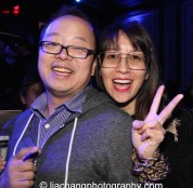 eff Yang and Ursula Liang at the #FreshOffTheBoat Viewing Party at The Circle NYC on February 4, 2015. Photo by Lia Chang